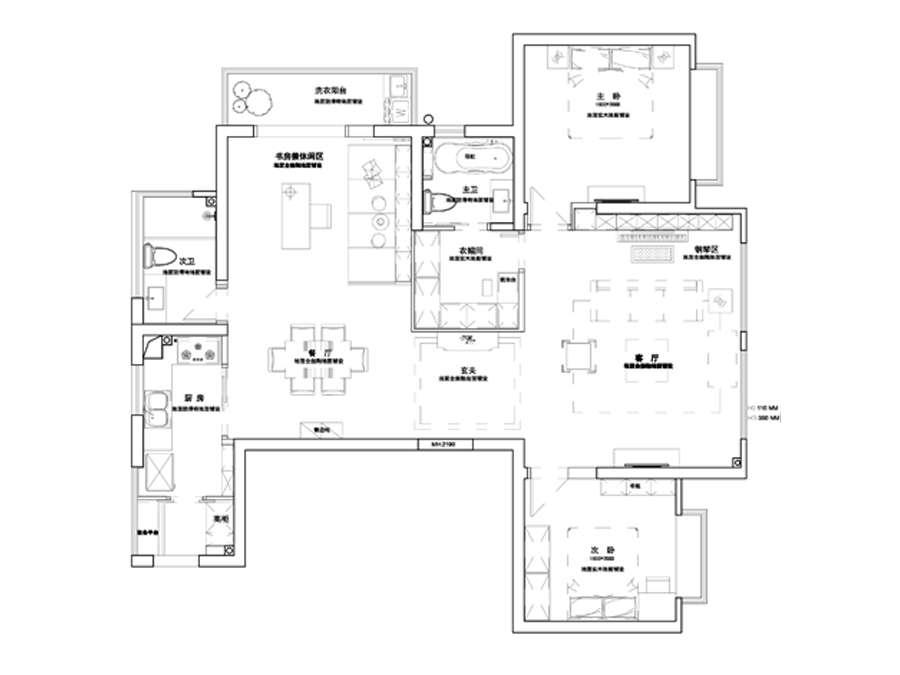 青秀澜湾4室两厅两卫装修效果图
