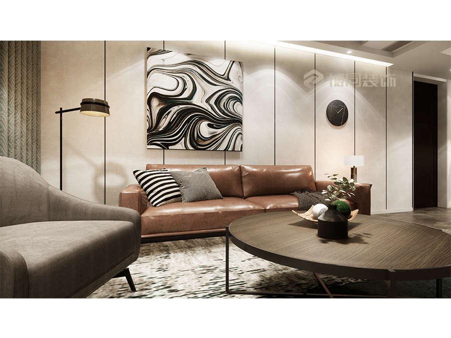 鄞州缇香郡三室两厅110㎡后现代风格装修效果图