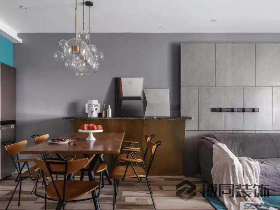 鄞州风华大境三室两厅95㎡混搭风格装修效果图