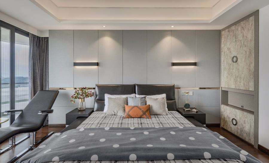 鄞州悦峰园三室两厅137㎡现代风格装修效果图