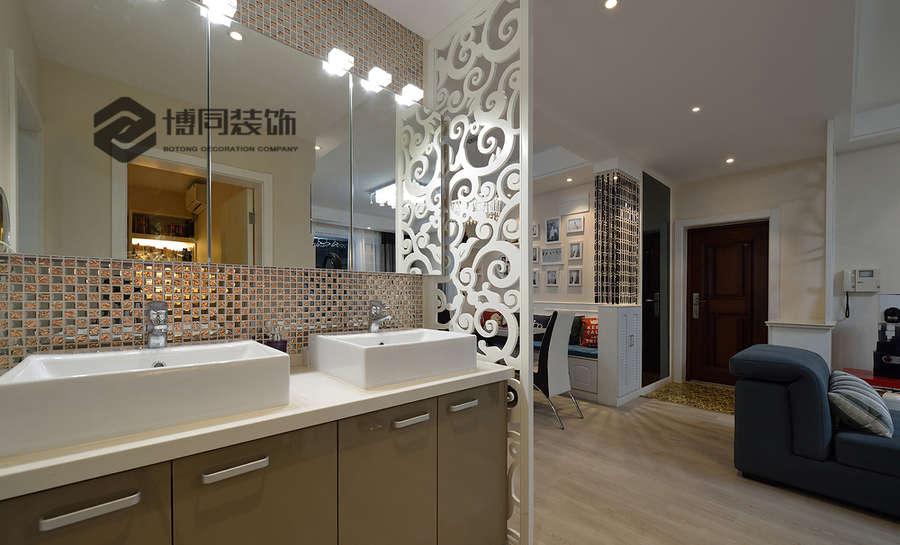 海曙盛丰佳苑2室2厅84m²现代简约风格装修效果图