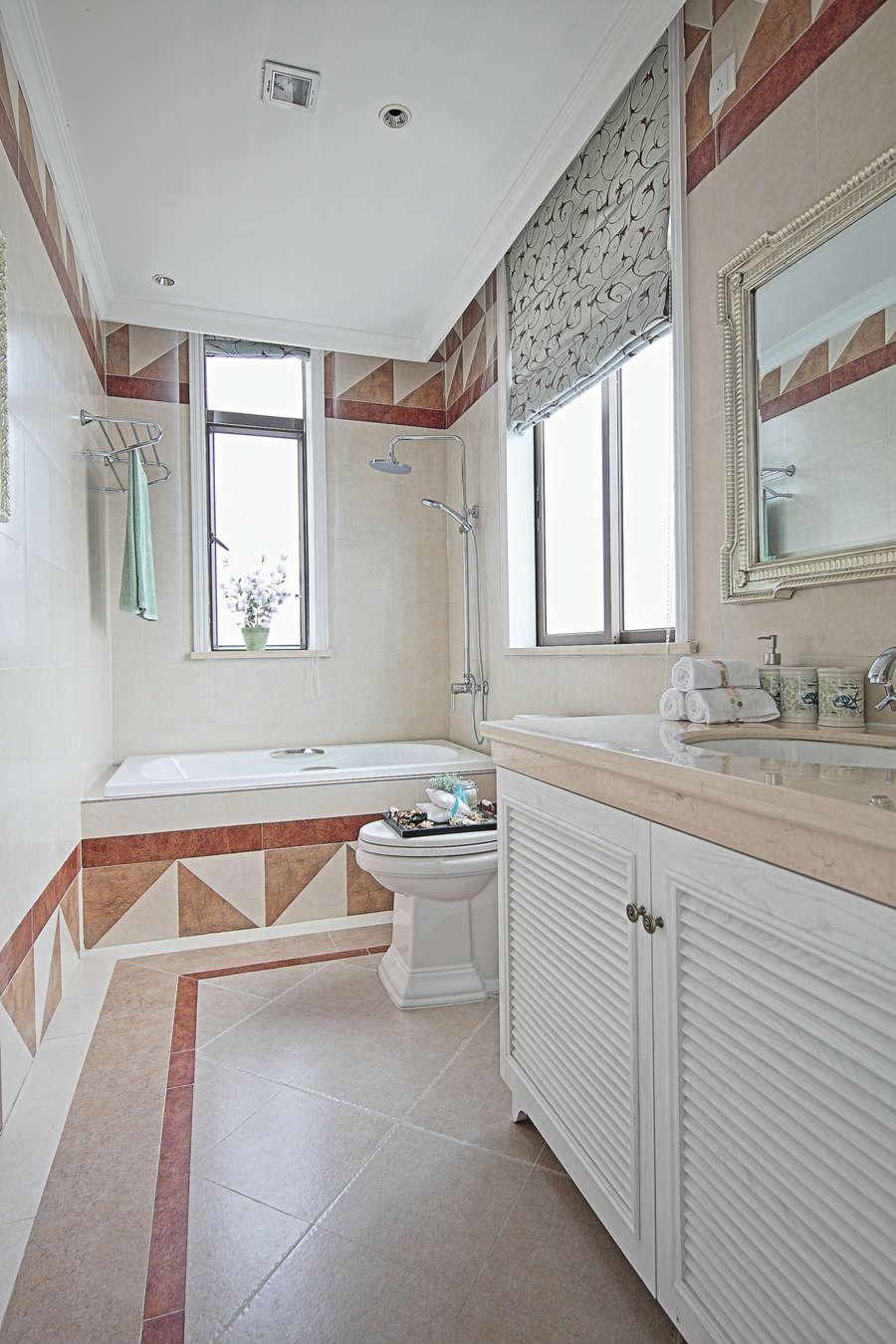 鄞州风格城事3室2厅130㎡地中海风格装修效果图