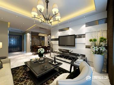 鄞州宏泰风花树四室两厅134m²美式风格装修效果图